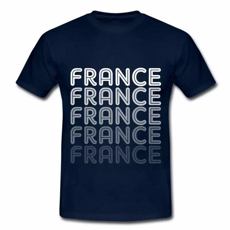 T shirt France Logo en dégradé HBM