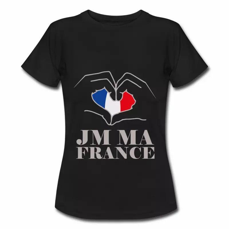 T shirt bleu blanc rouge J'aime ma France FNR