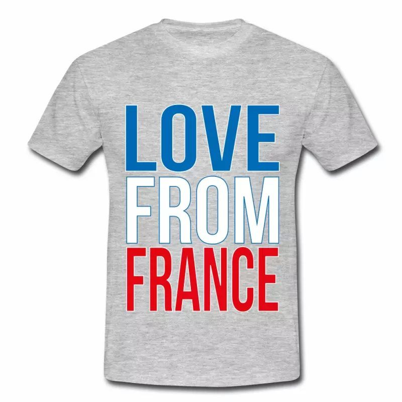 T shirt bleu blanc rouge Love from France HGR