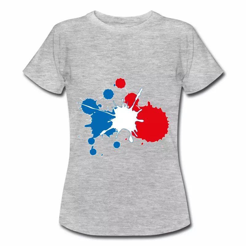 T shirt bleu blanc rouge Peinture tricolore FGC