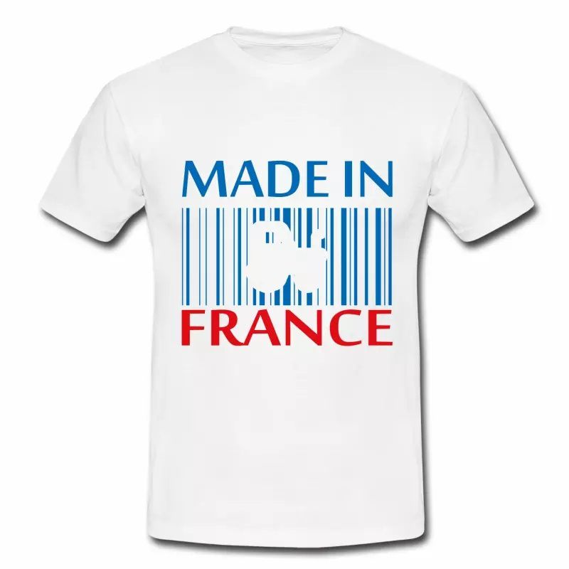 T shirt bleu blanc rouge Made in France Tracteur HBL M3
