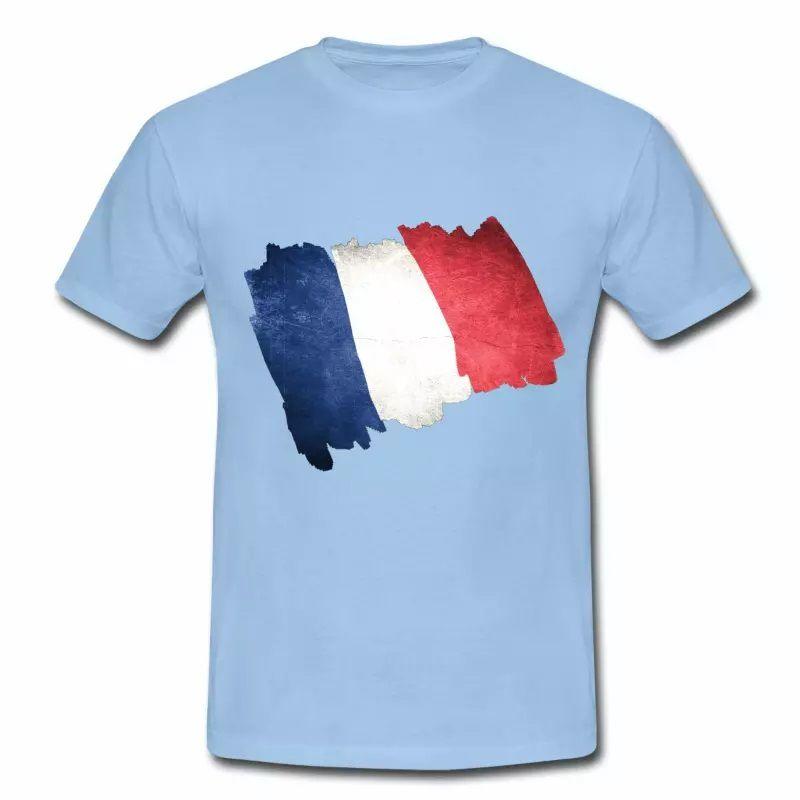 T shirt bleu blanc rouge Drapeau Français en dessin HBC