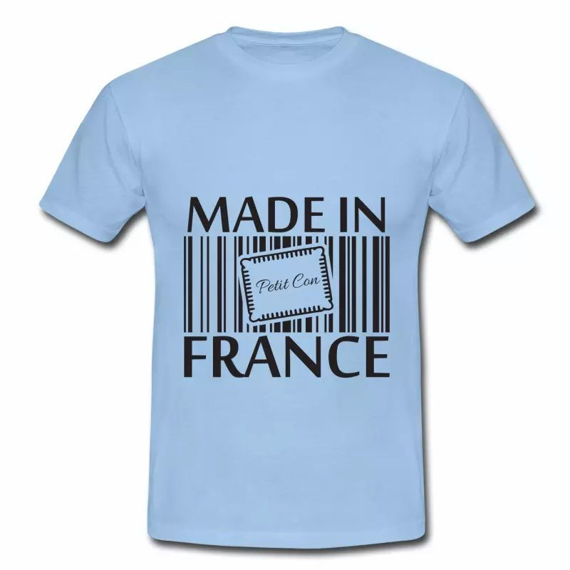 T shirt bleu c homme Humour petit con Made in France
