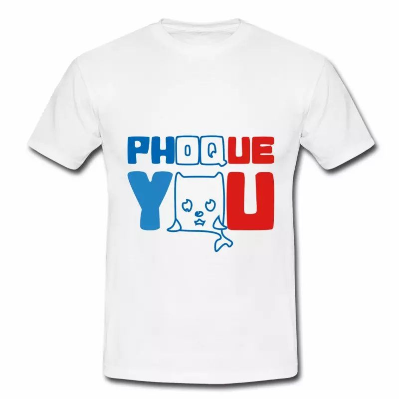 T shirt blanc homme Phoque you