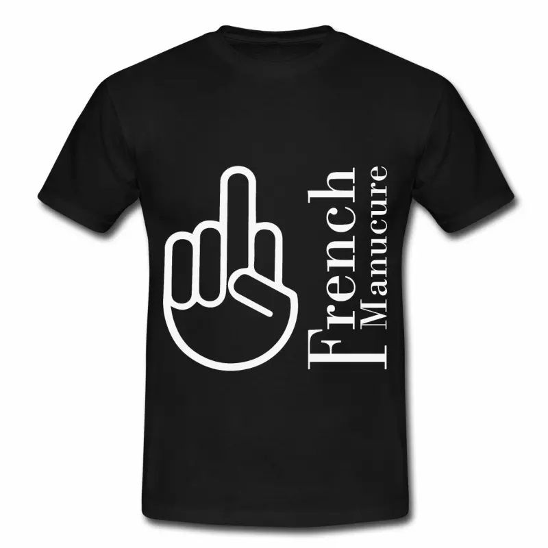 T shirt noir homme Humour the French Manucure