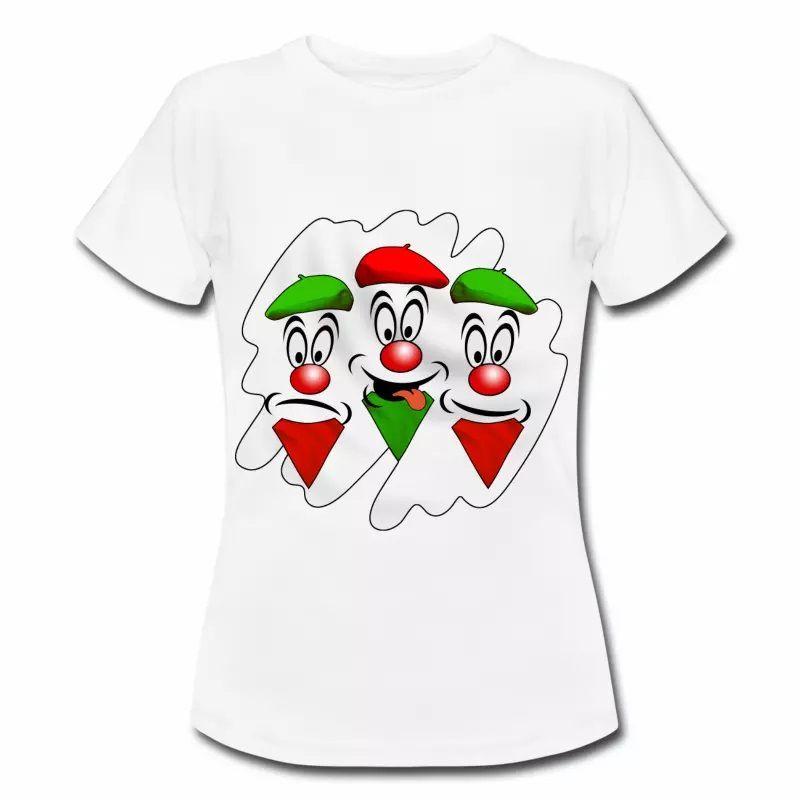 T shirt Pays Basque blanc femme 64 Les basques