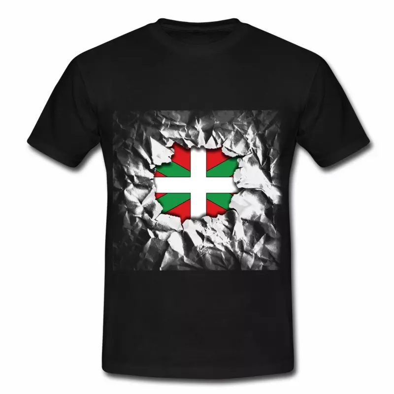 T shirt Pays Basque noir homme 64 Drapeau basque Design