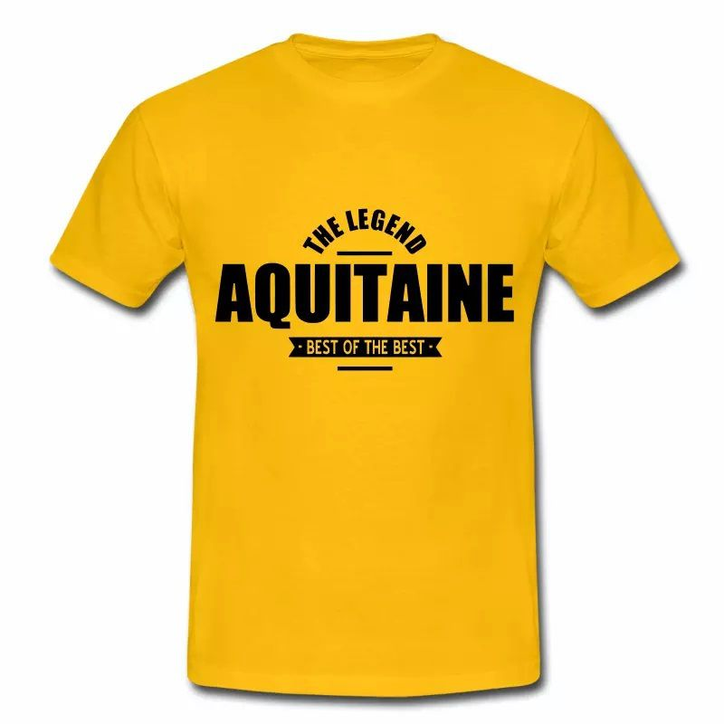 T Shirt Aquitaine jaune homme The Legend