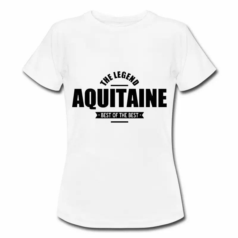 T Shirt Aquitaine blanc homme The Legend