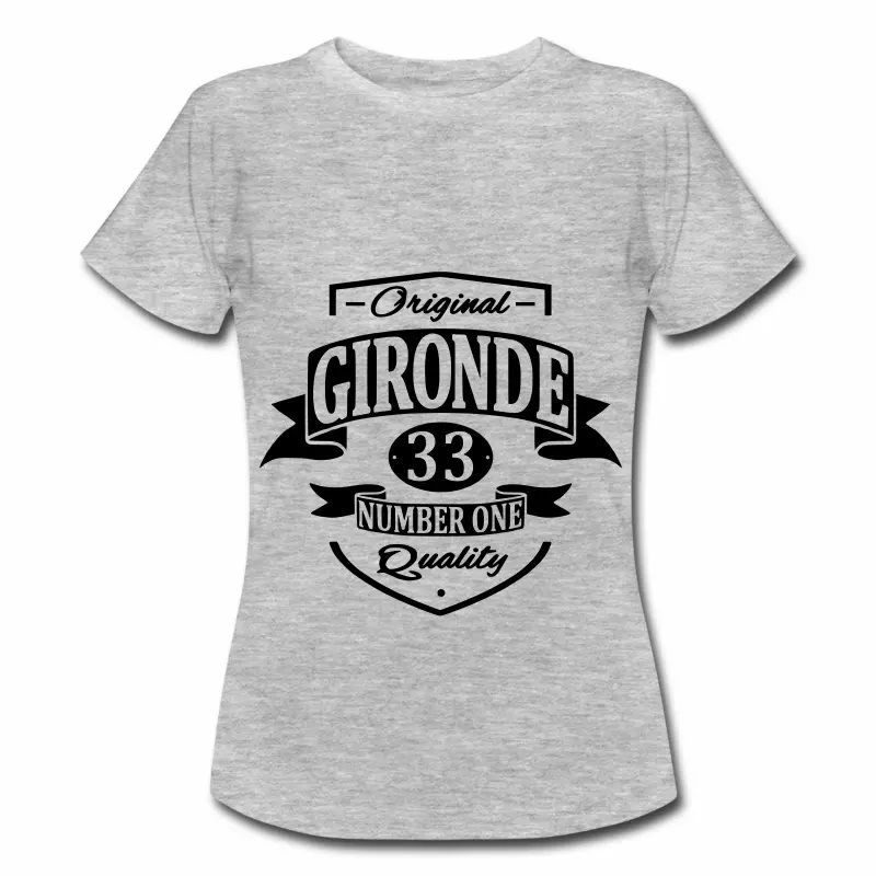 T Shirt Aquitaine gris femme Gironde 33 Number one