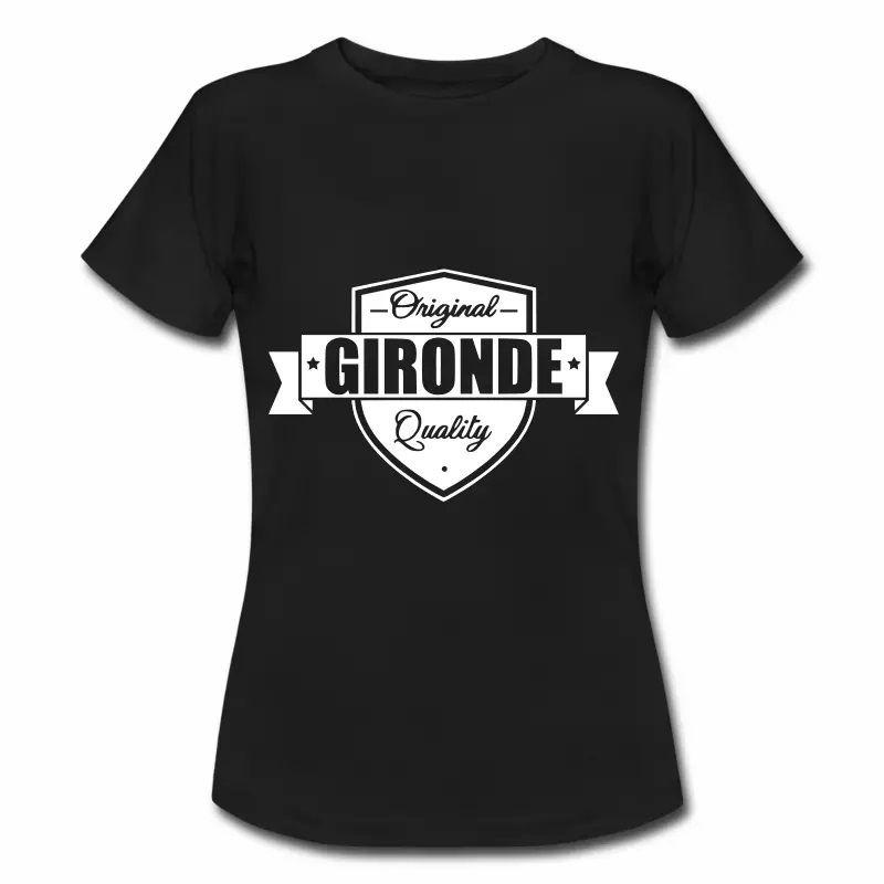 T Shirt Aquitaine noir femme Gironde Original Quality