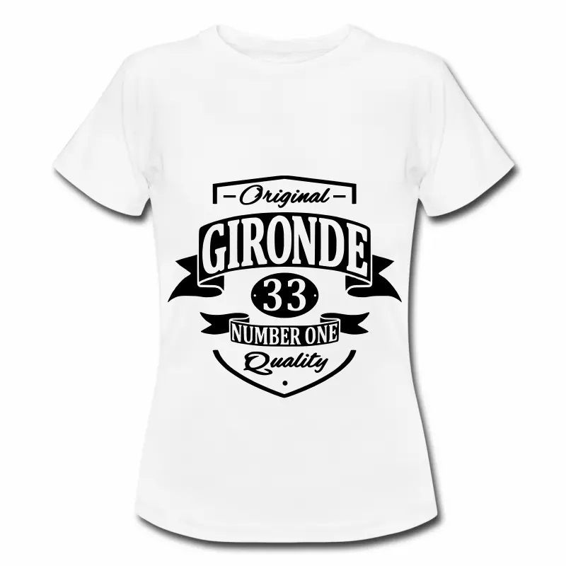 T Shirt Aquitaine blanc femme Gironde 33 Number one