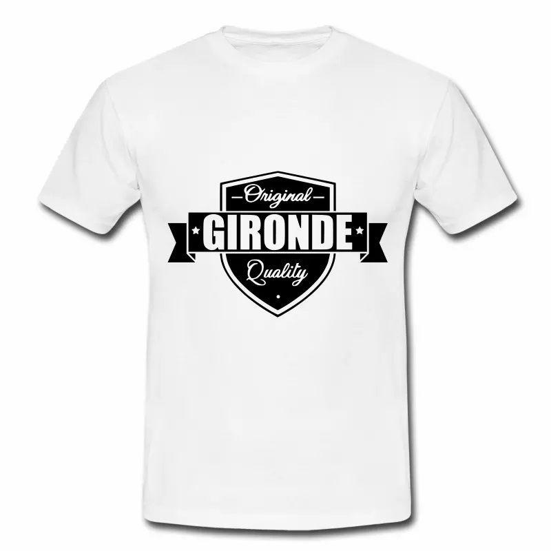 T Shirt Aquitaine blanc homme Gironde Original Quality
