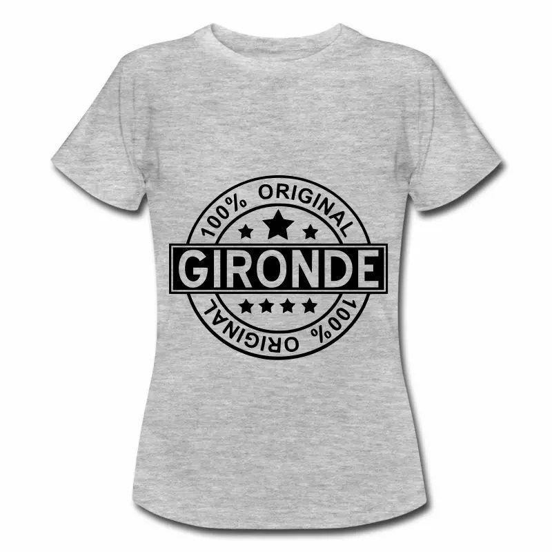 T Shirt Aquitaine gris femme Gironde 100% Original