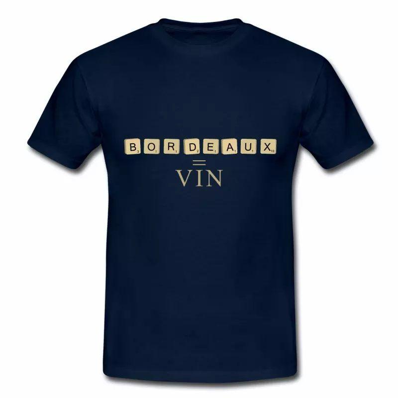 T Shirt Aquitaine blanc homme Bordeaux 33 Scrabble et Vin