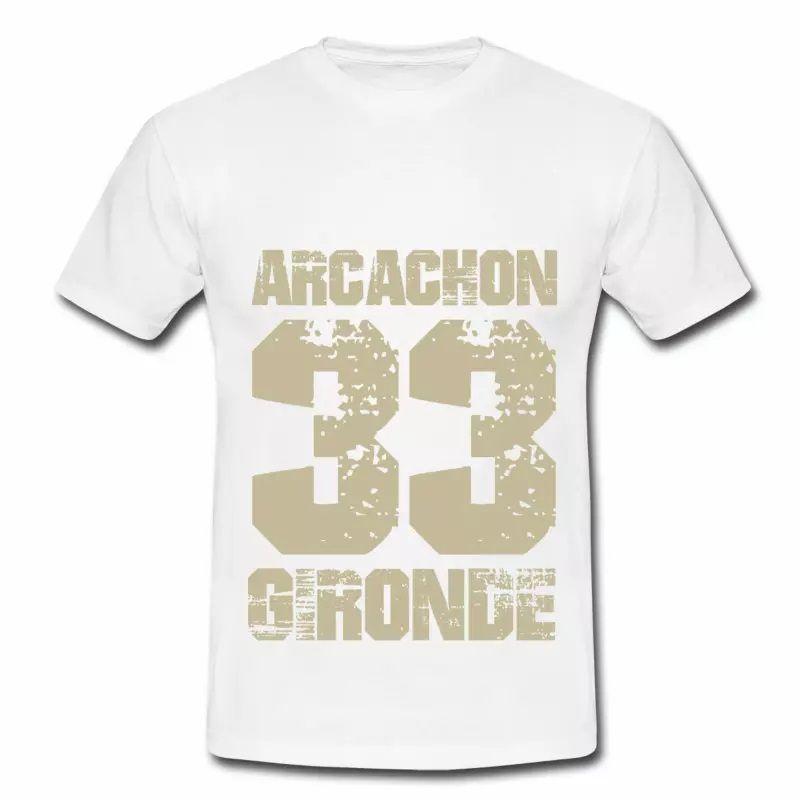 T shirt Aquitaine blanc homme Arcachon 33 Gironde
