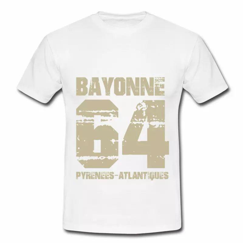 T shirt Aquitaine blanc homme Bayonne 64 Pyrénées-Atlantiques