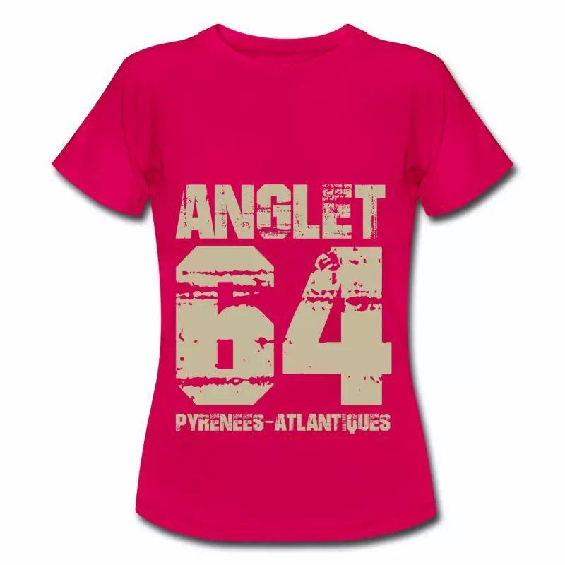 T shirt Aquitaine rubis femme Anglet 64 Pyrénées-Atlantiques