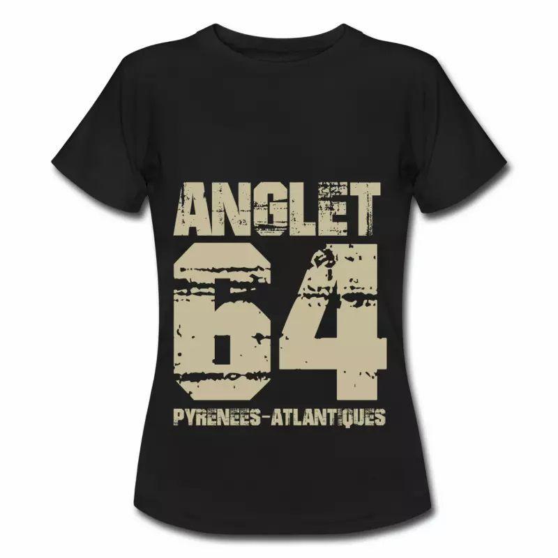 T shirt Aquitaine noir femme Anglet 64 Pyrénées-Atlantiques