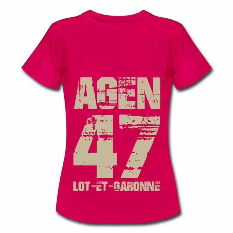 T shirt Aquitaine rubis femme Lot et Garonne 47 Agen