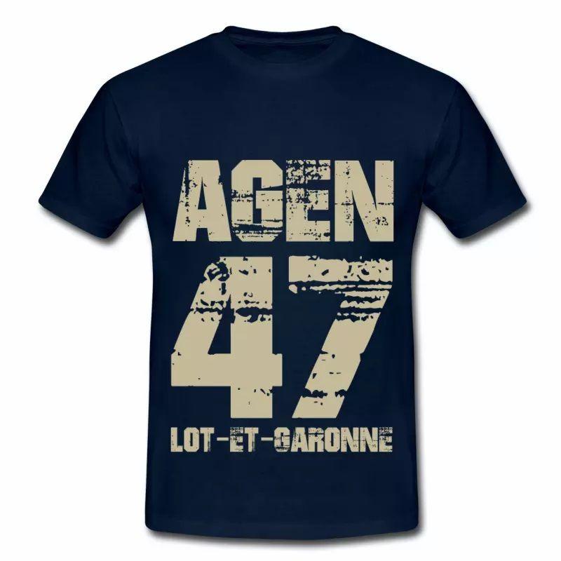 T shirt Aquitaine bleu m homme Lot et Garonne 47 Agen
