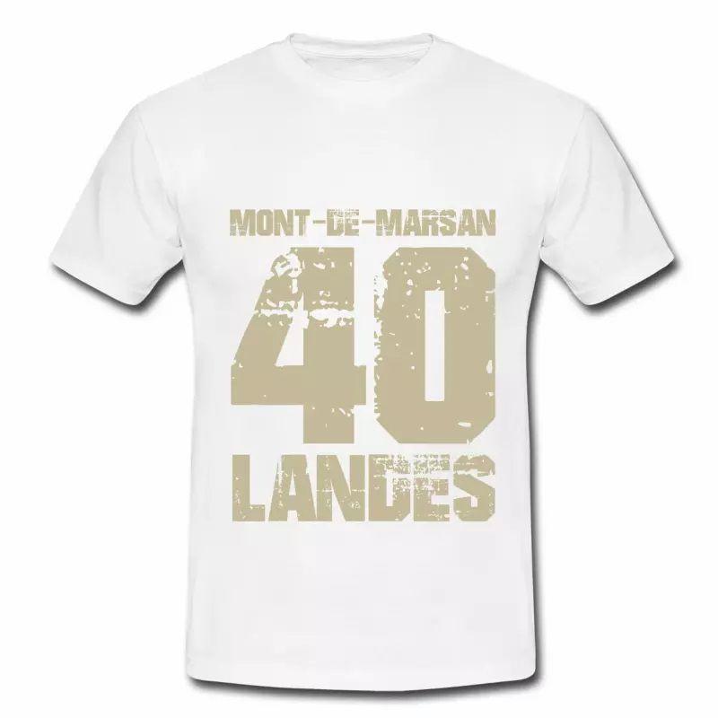 T shirt Aquitaine blanc homme Landes Mont de Marsan 40