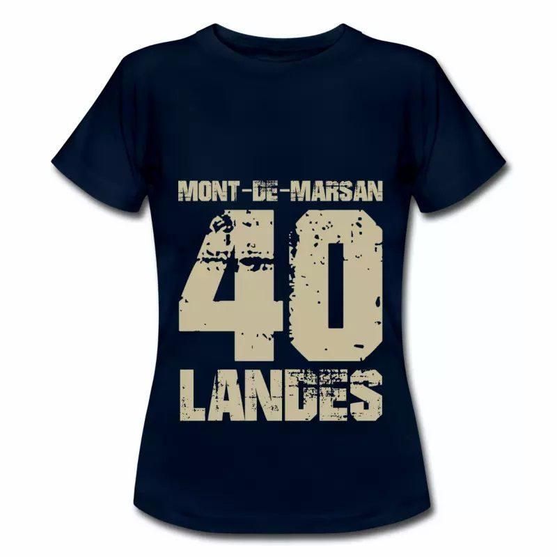 T shirt Aquitaine bleu m femme Landes Mont de Marsan 40