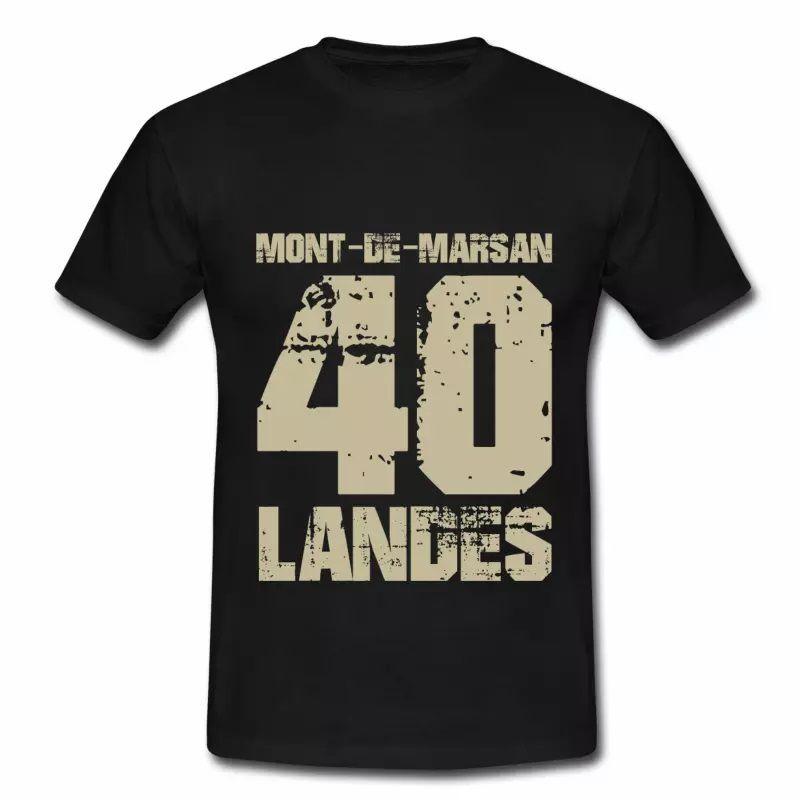 T shirt Aquitaine noir homme Landes Mont de Marsan 40