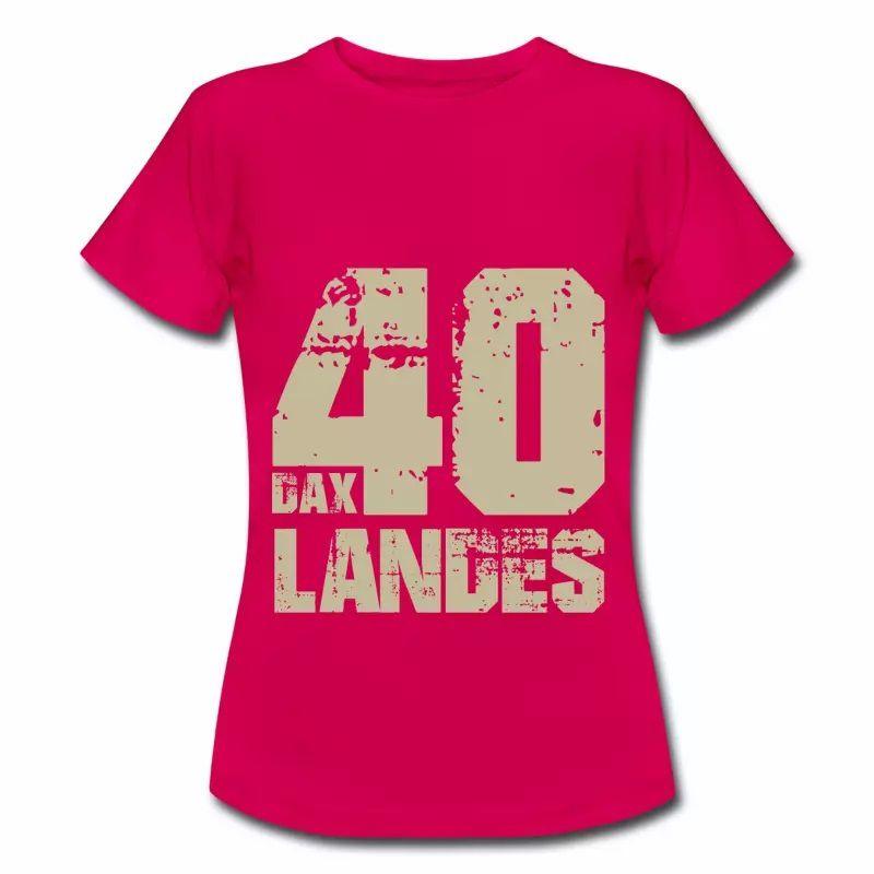 T shirt Aquitaine rubis femme Landes Dax 40