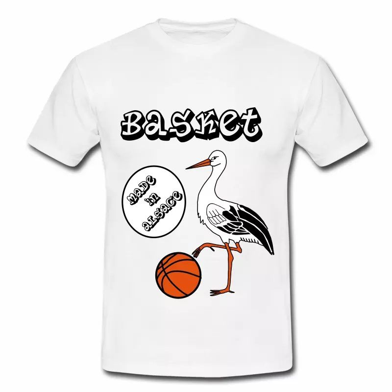 T Shirt Alsace blanc homme Made in Alsace Basket