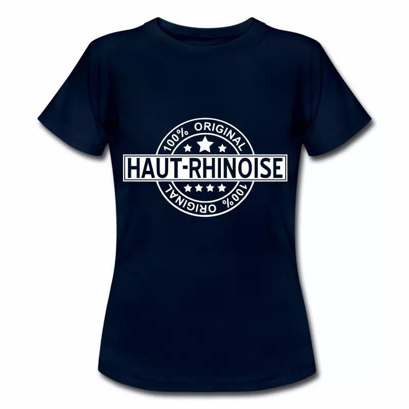 T Shirt Alsace bleu m pour femmes 100% Original Haut Rhinoise