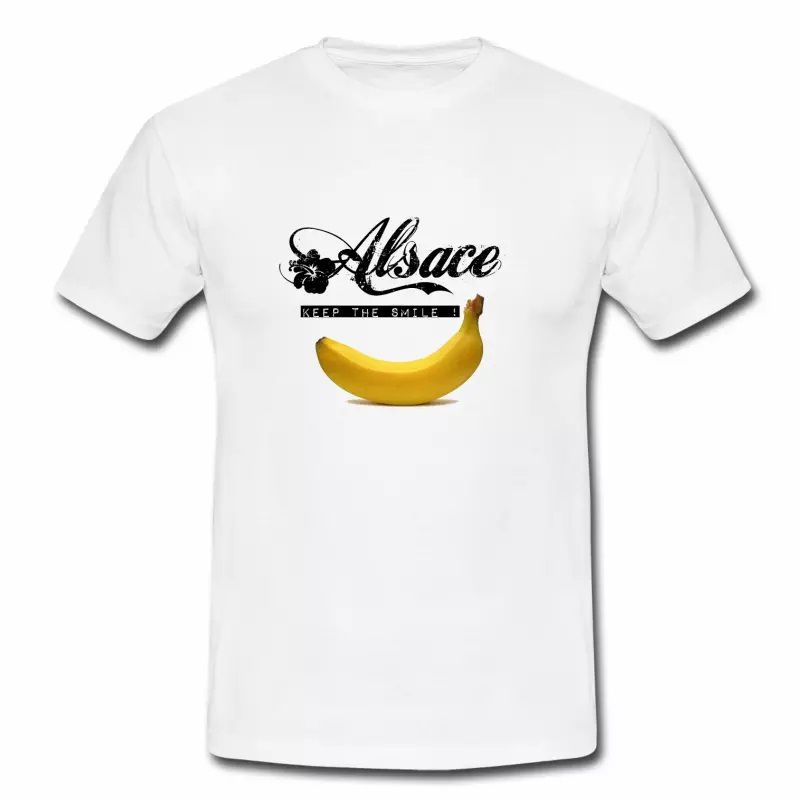 T Shirt Alsace blanc homme Keep Smile