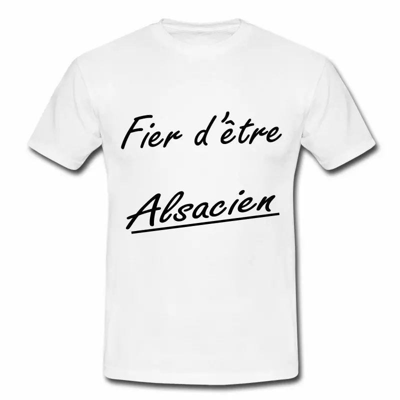 T Shirt Alsace blanc homme Fier d'être Alsacien