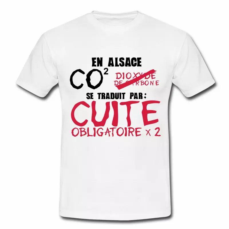 T Shirt Alsace blanc homme La Cuite obligatoire