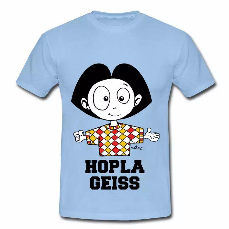 T Shirt Alsace bleu c homme Hopla Geiss