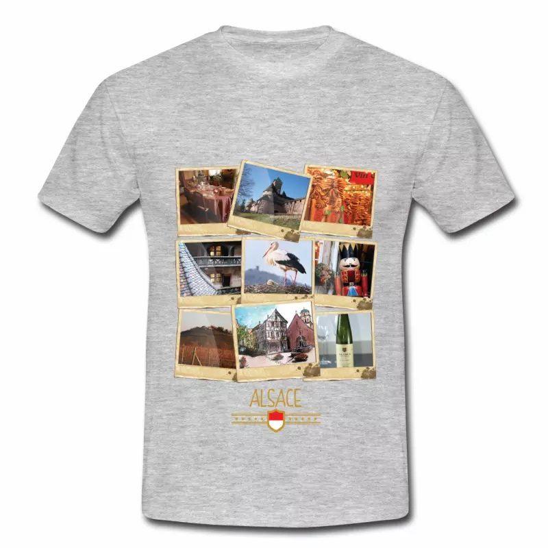 T Shirt Alsace gris homme Polaroids