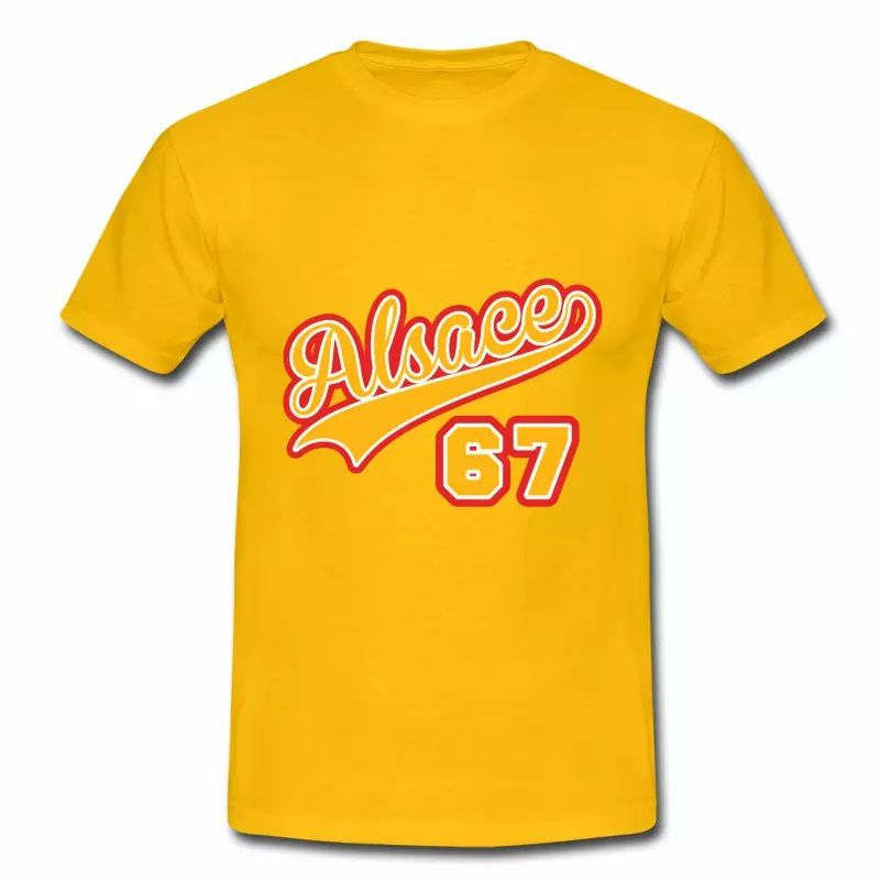T Shirt Alsace jaune homme Alsace 67