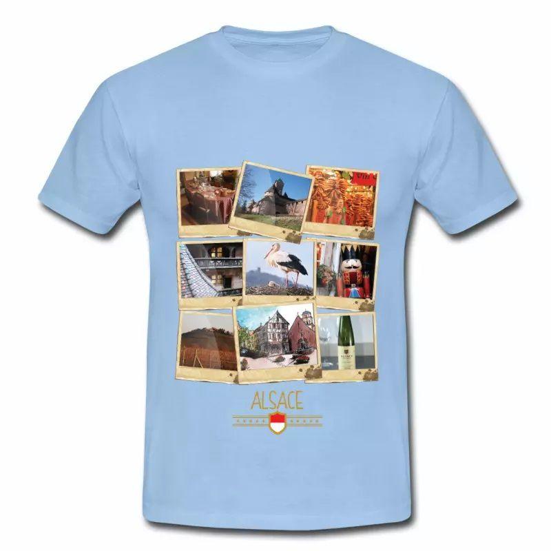 T Shirt Alsace bleu c homme Polaroids