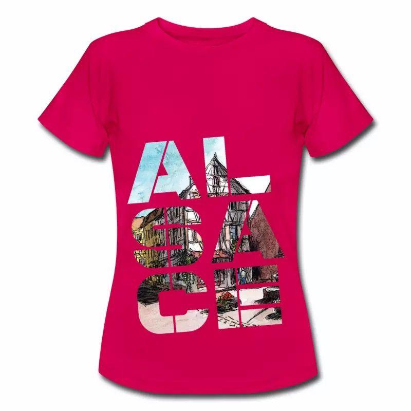T Shirt Alsace Design rubis pour femmes