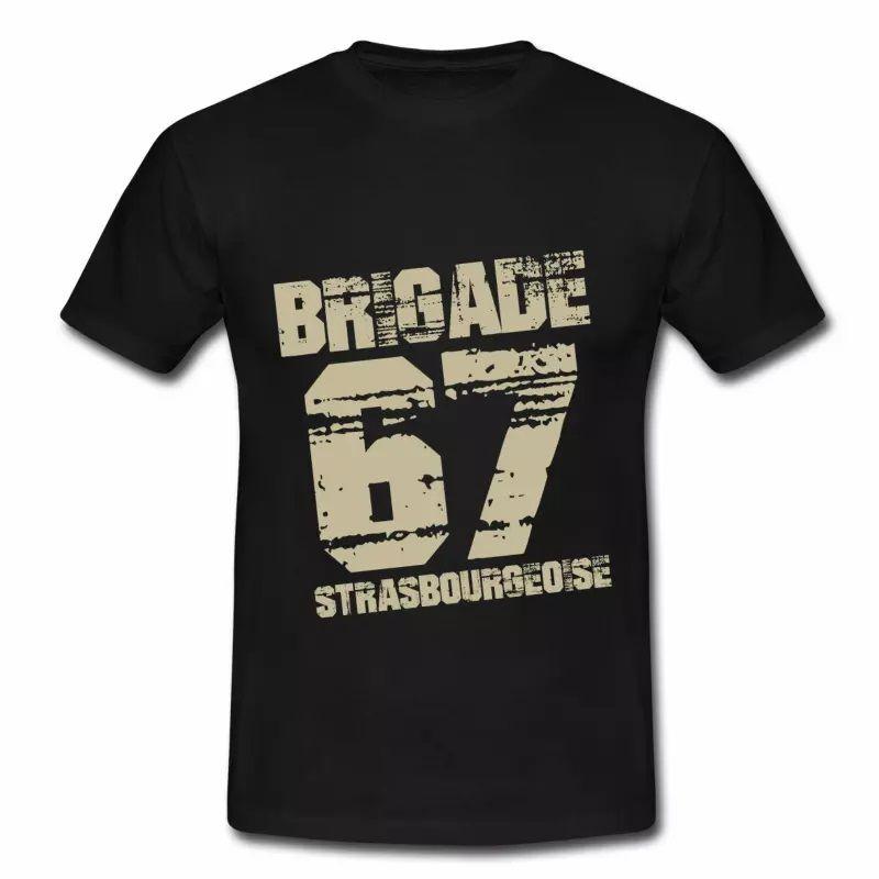 T Shirt Alsace noir homme Strasbourg 67 brigade Strasbourgeoise