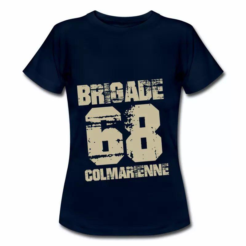 T Shirt Alsace bleu m femme Colmar 68 Brigade Colmarienne