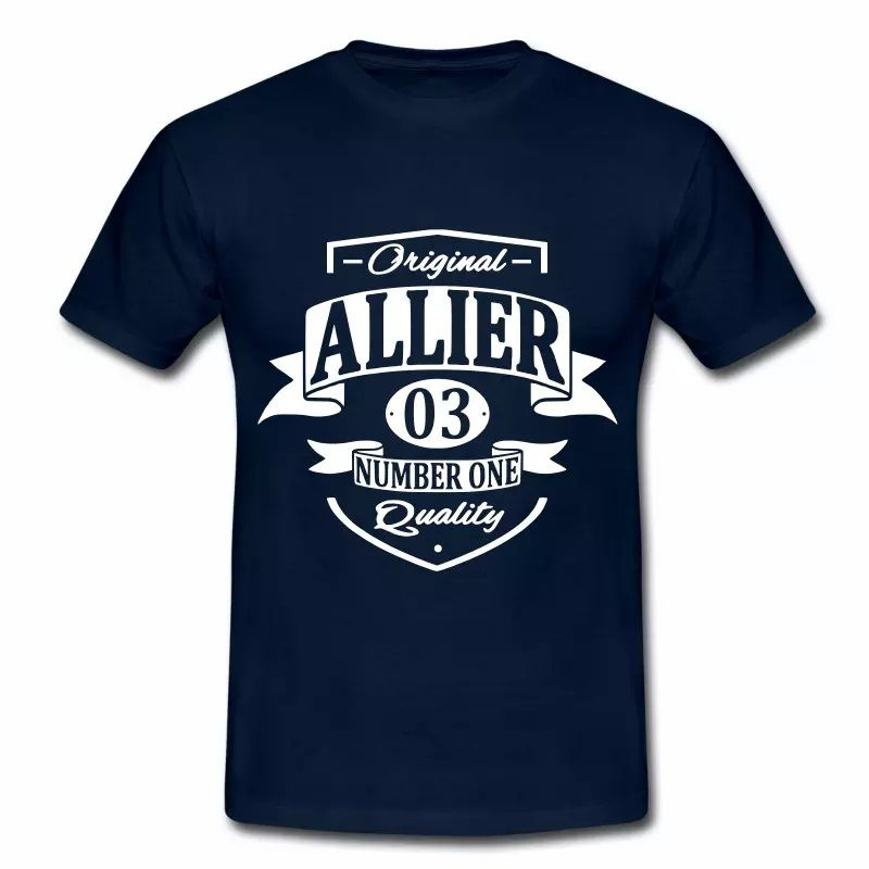 T Shirt Auvergne Original Allier 03 Number One HBM