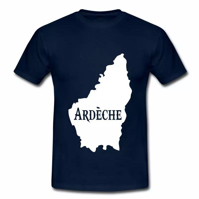 T Shirt Auvergne Carte d'Ardèche HBM
