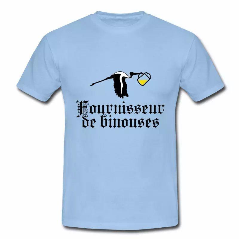 T shirt bleu c homme Fournisseur de binouses