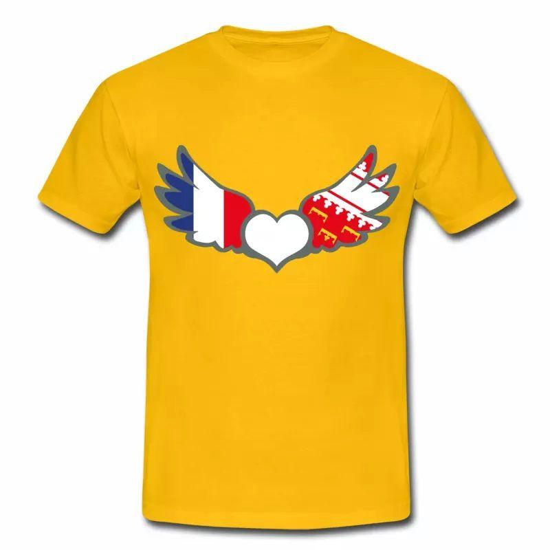 T-shirt Drapeaux France & Alsace. Fier d'être Français & Alsacien J