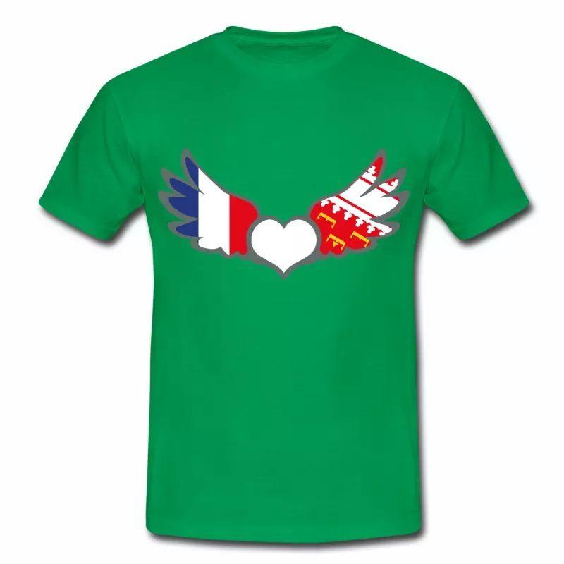 T-shirt Drapeaux France & Alsace. Fier d'être Français & Alsacien V