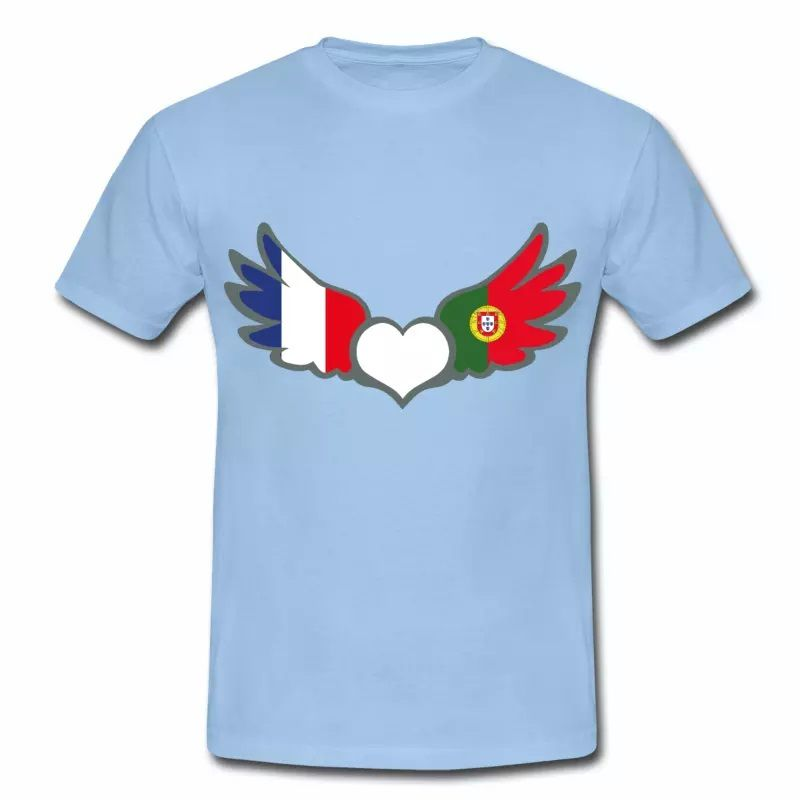 T-shirt Drapeaux France Portugal BC