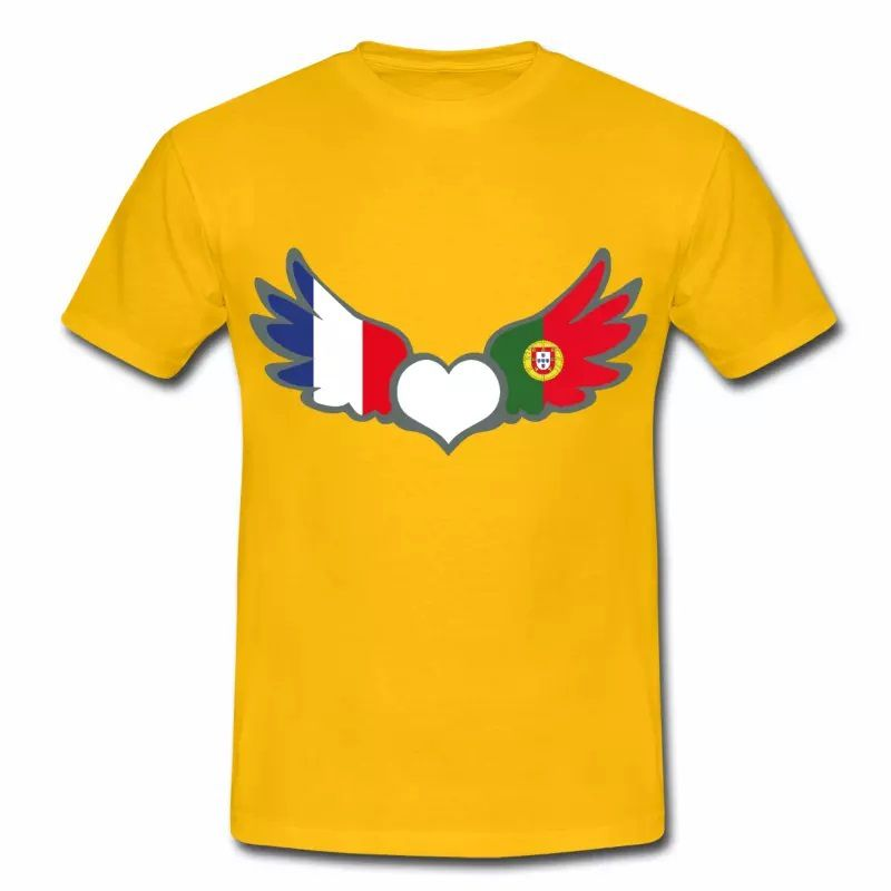 T-shirt Drapeaux France Portugal J