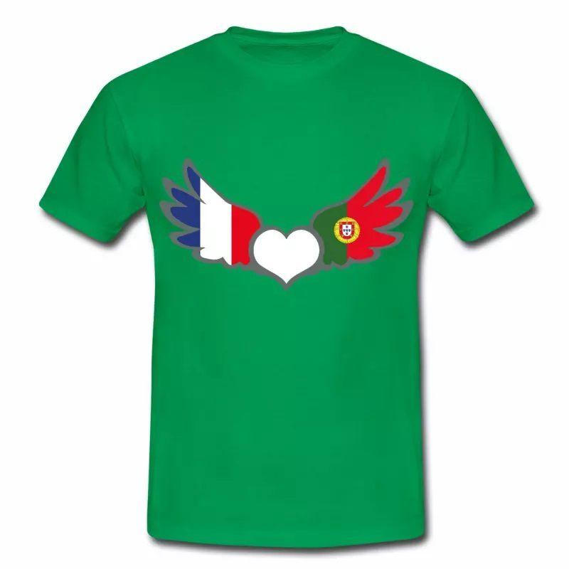 T-shirt Drapeaux France Portugal V