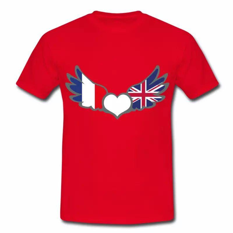 T-shirt Drapeaux France Royaume-Uni R